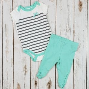Baby Girls Outfit, Size 3-6 Months